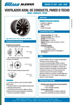 Catálogo de Ventiladores Axiales de Pared, de Conducto y de Techo