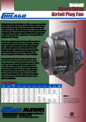 Catalogo de Ventiladores Centrífugos - Plug Fan - D44 SW