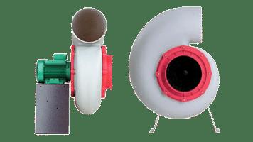 Ventilador Centrífugo de Polipropileno - Gases Corrosivos - D98 PP - SEAT